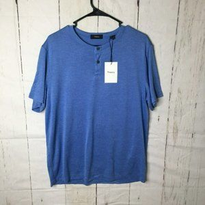 Theory Mens Anemone Blue Shirt Large NWT